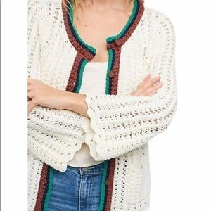 Anthropologie Crochet Cardigan
